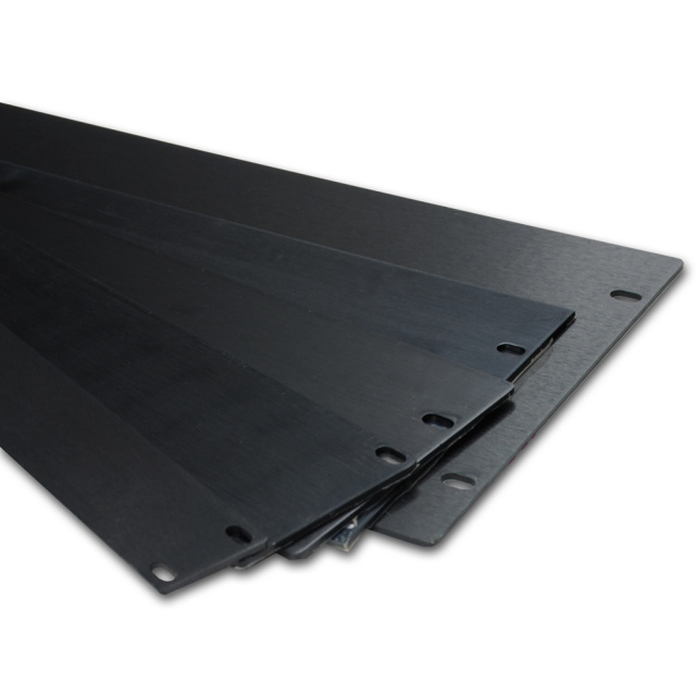 "19"" 1U, 2U, 3U, 4U, 5U Flat Aluminium Thick Panel Black"