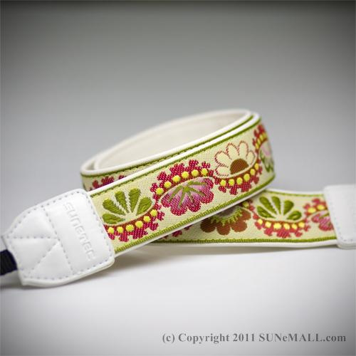 Sunetec Bloom Camera Strap- Lemon Green
