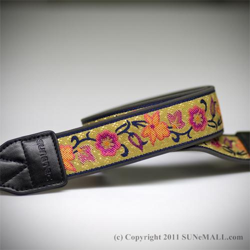 Sunetec Bloom Camera Strap- Brass Brown