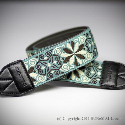 Sunetec Bloom Camera Strap- Bluish Green