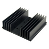 "SS54X 4.3"" x4"" x1"" Aluminum Black Heat Sink with TO-3 hole"