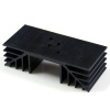 "SS621 4.5"" x2"" x1"" Aluminum Black Heat Sink with TO-3 hole"