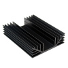 "S660 4.5"" x6"" x1"" Aluminum Black Heat Sink"