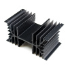 "SS83X 5"" x3"" x2.5"" Aluminum Black Heat Sink with TO-3 hole"