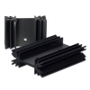 "SS116 1.4"" x 1"" x 0.5""  Aluminum Black Heat Sink"