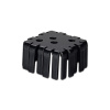 "SS221 2"" x2"" x1"" Aluminum Black Heat Sink with TO-3 hole"