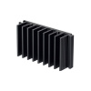 "SS315 2.8"" x1.5"" x0.7""  Aluminum Black Heat Sink"